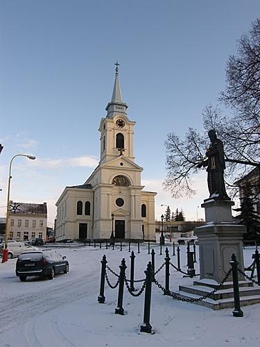 kostel na Březových Horách - zima