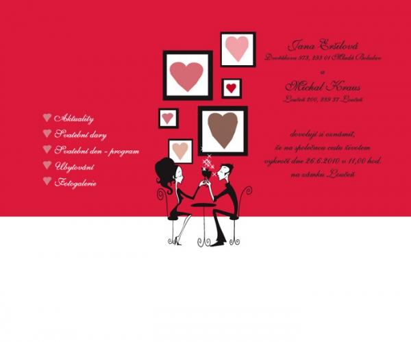 návrh stránek svatba Michal & Jana