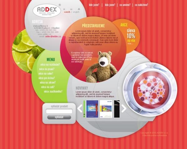 navrh web prezentace www.addex.cz