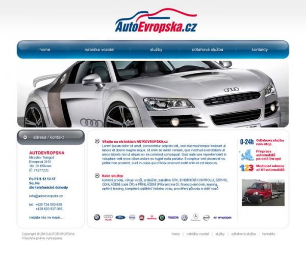 navrh web prezentace autoevropska.cz