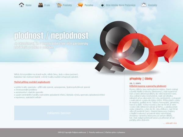nerealizovaný projekt - návrh webové prezentace