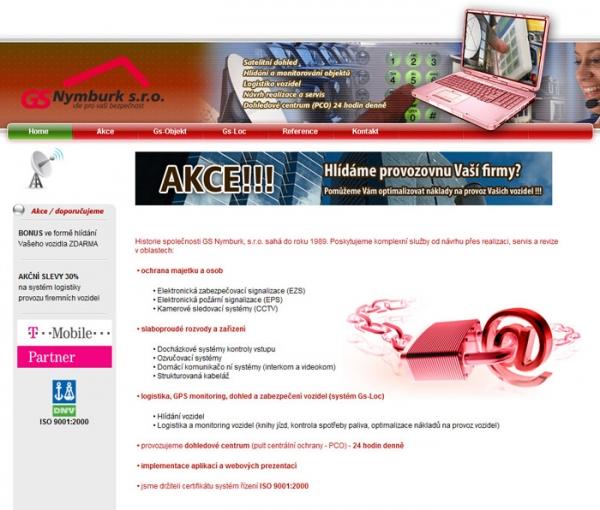 design webu www.gs-nymburk.cz