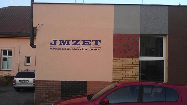 kreba loga JMZET na fasádu