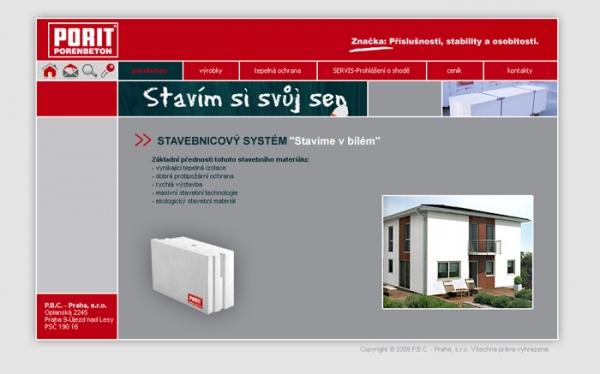 návrh designu www.porit.cz