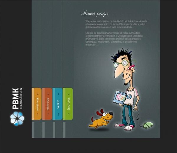 návrh designu www.pbmk.cz