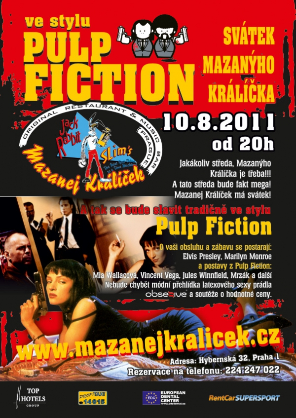 Leták A5 - akce Pulp Fiction