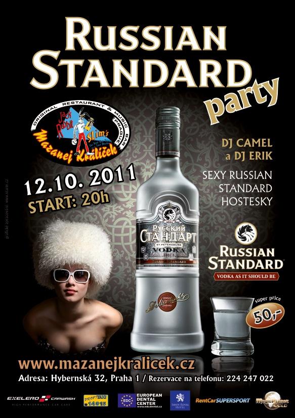 Leták A5 - akce Russian standard párty