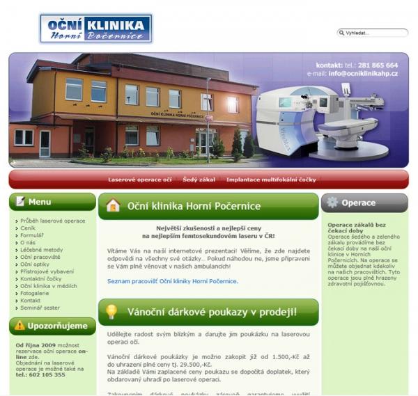 design webu www.ocniklinikahp.cz