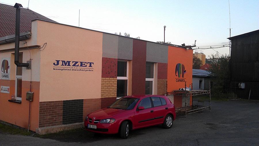 malba log JMZET budova