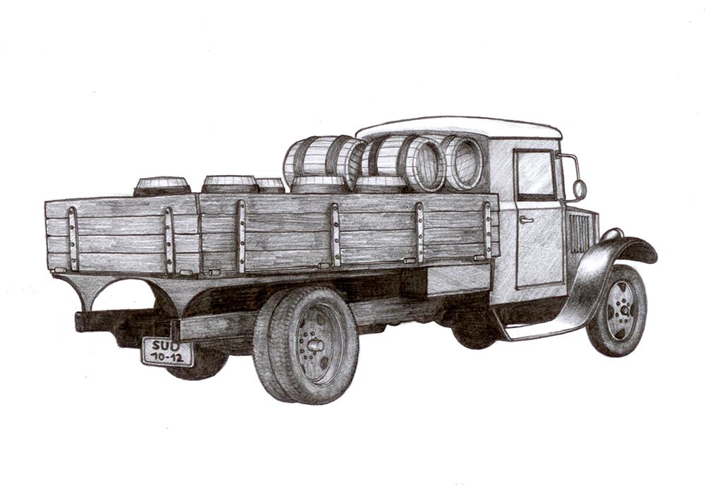 kresba náklaďák
