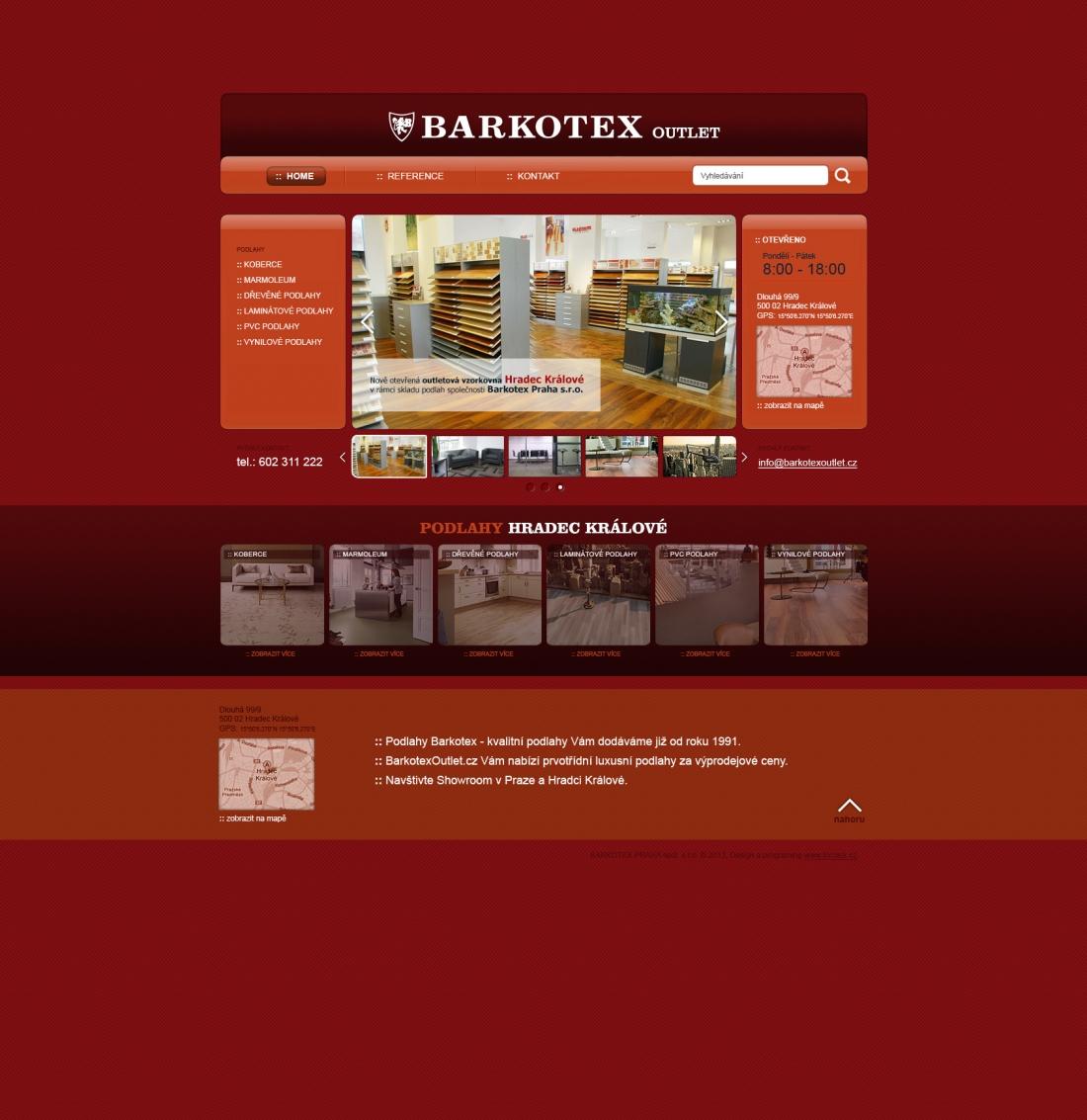 návrh designu webu