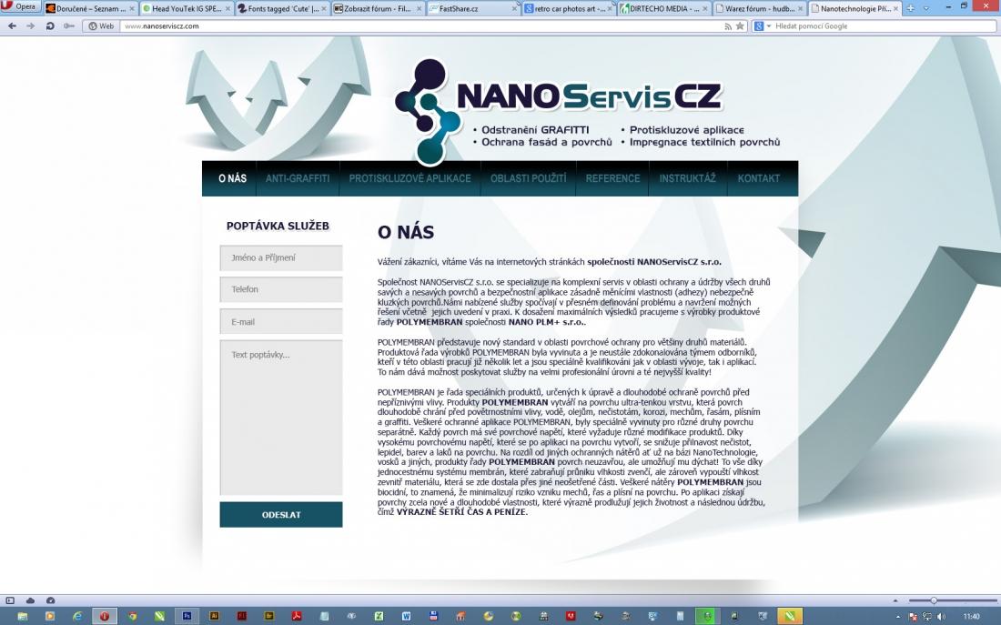 návrh designu NANO SERVIS
