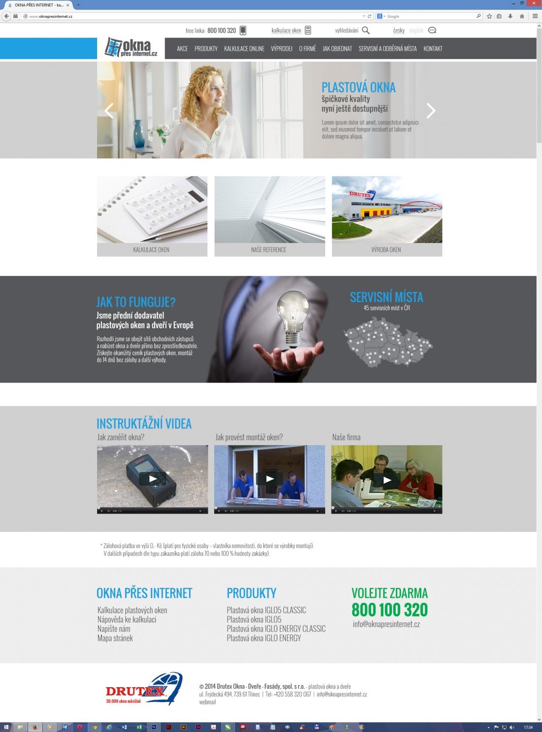 návrh designu webu - nerealizováno - Okna přes internet