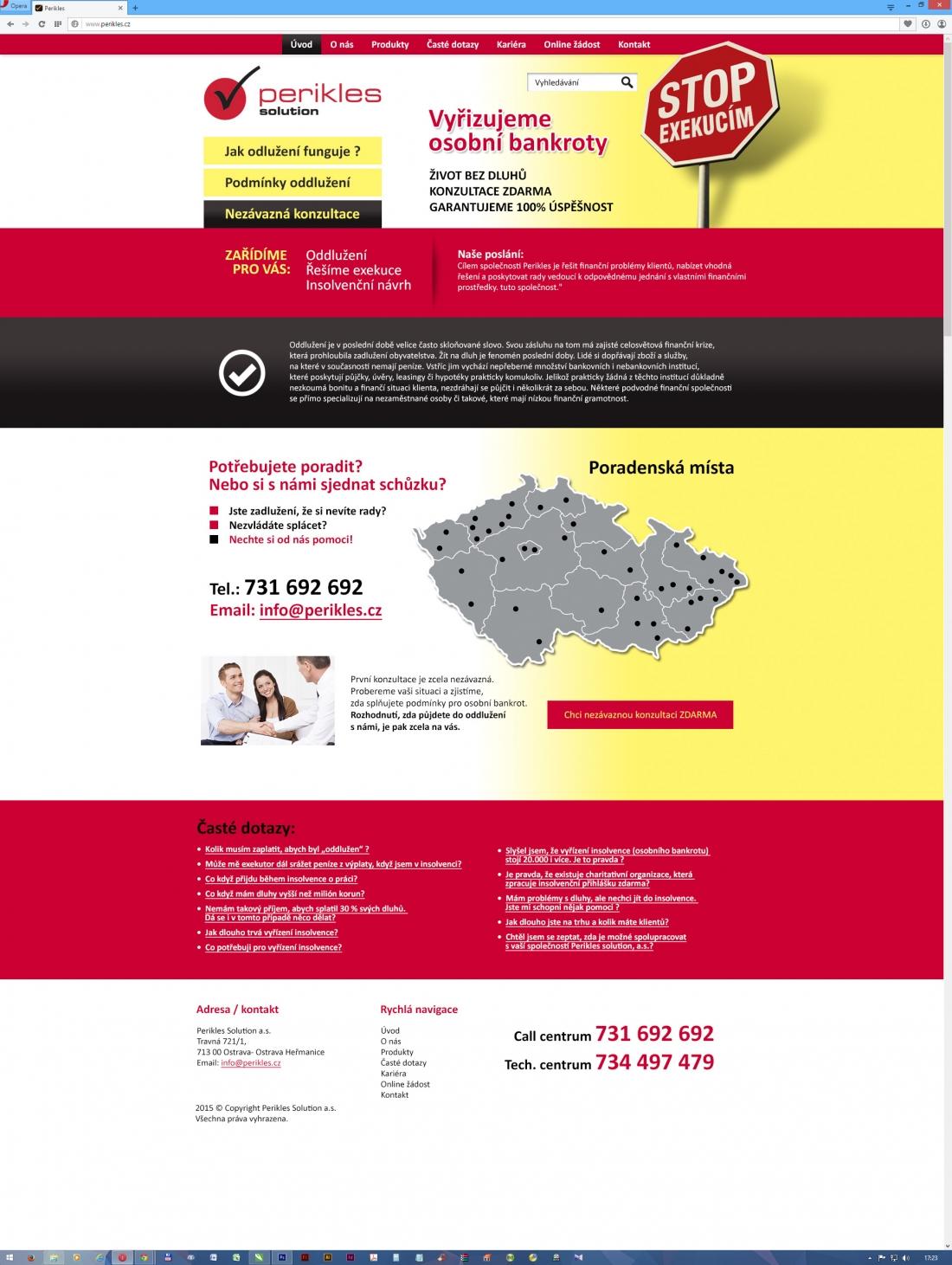 návrh web prezentace - PERIKLES