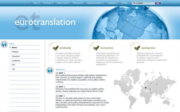 design webu www.eurotranslation.cz