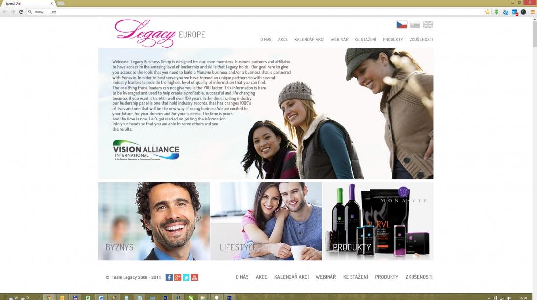 TEAM LEGACY - úprava designu webu