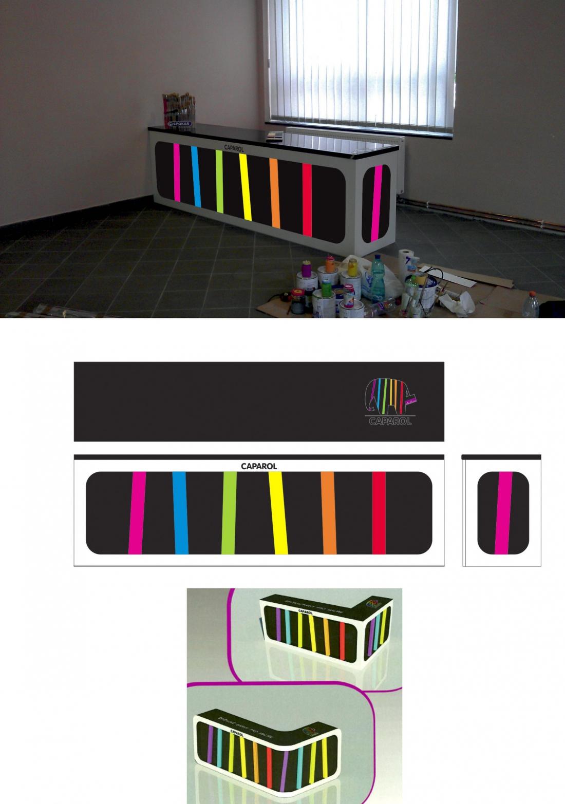 Barvy Příbram - prodejní pult