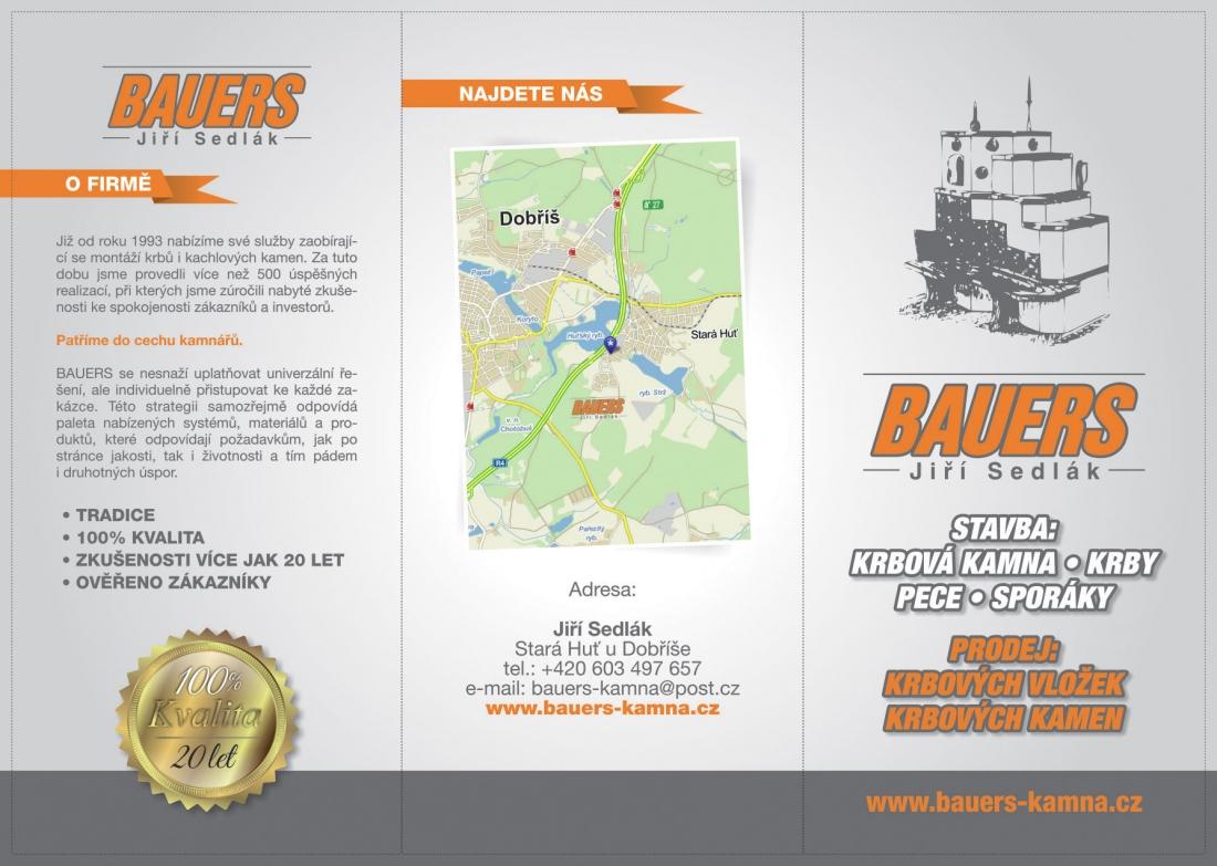 Bauers Sedlák - leták skládačka přední strana