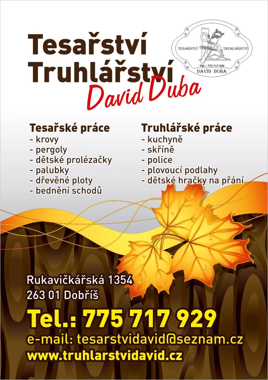 Duba David - Truhlářství - leták