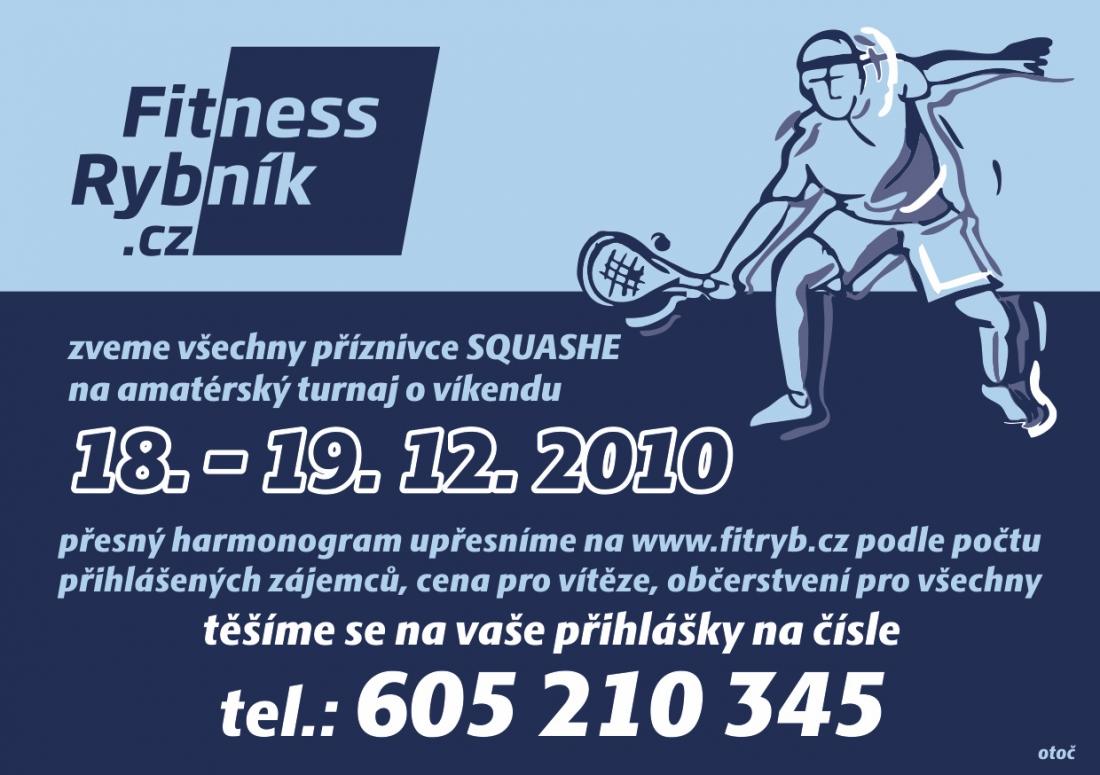 Fitness rybník - leták