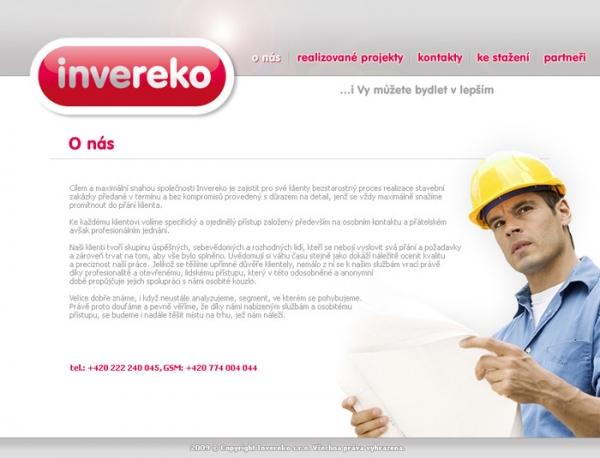 design webu www.invereko.cz