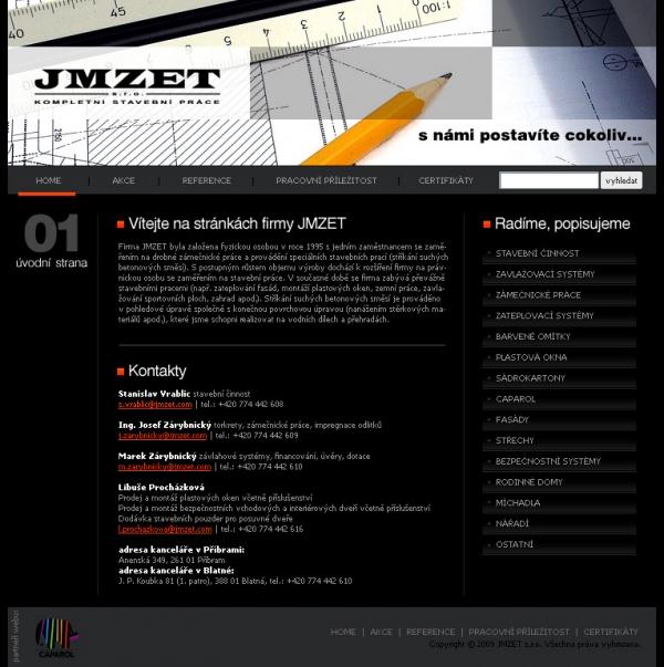 navrh webu www.jmzet.com